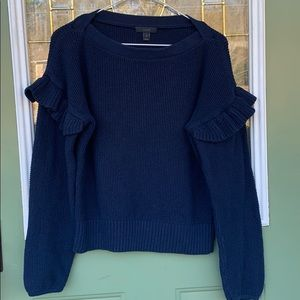 NWOT J. Crew sweater with ruffle sleeves size M